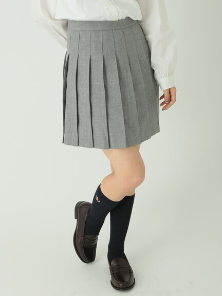 【KANKO×earth】無地プリーツスカート