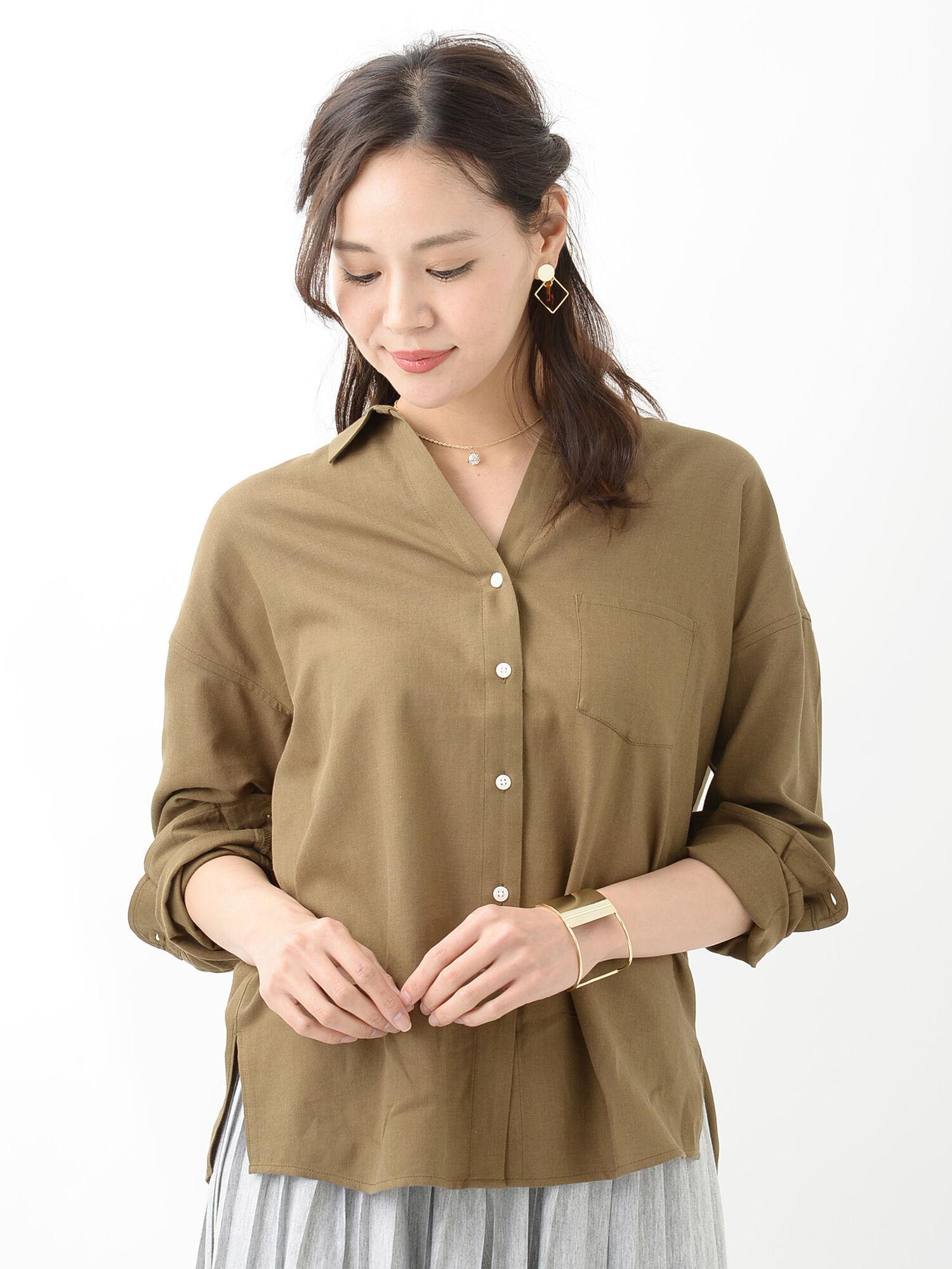 ★胸ポケット付きゆるシャツ