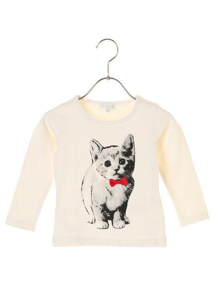 ★Kids ネコ柄PTロングTシャツ