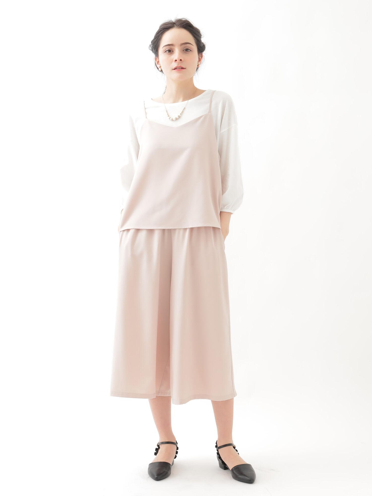 【SETITEM】・キャミソール+スカーチョ+プルオーバーセット