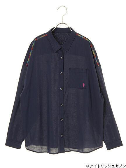 <WEB限定受注生産>Re:valeコラボ レインボーステッチワークシャツ