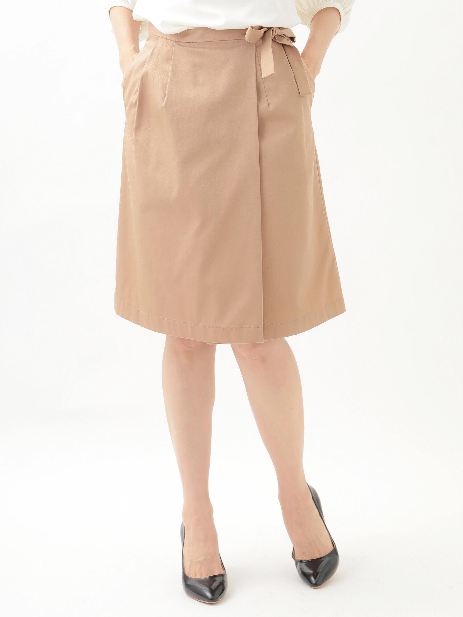 <もっと大きなサイズ>リボンラップスカート