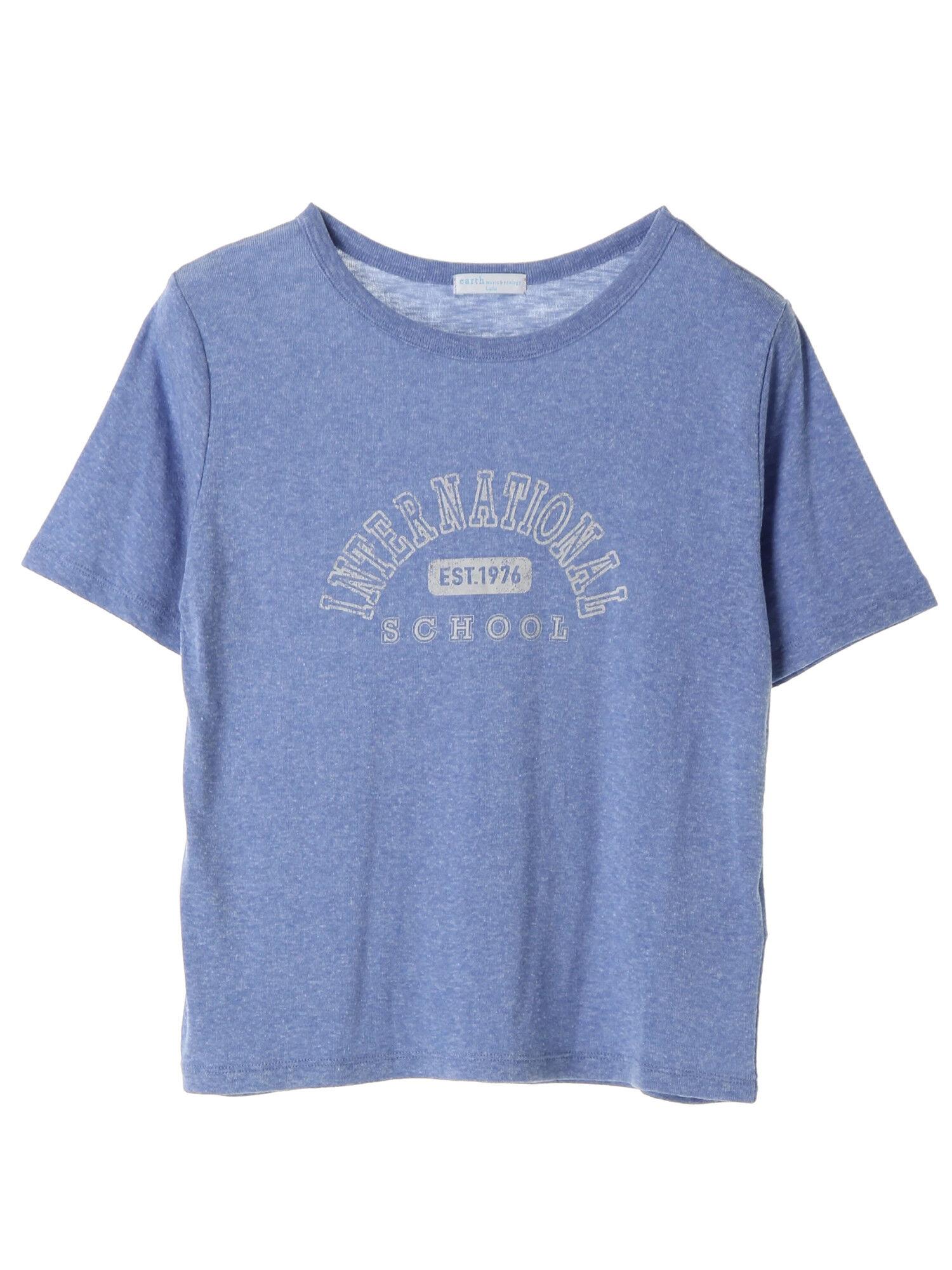 ・luluKTロゴプリントTシャツ