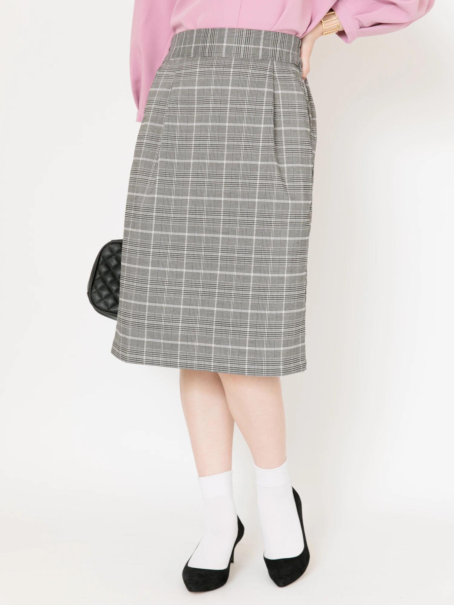 ・すきな丈ミディチェックタイトスカート
