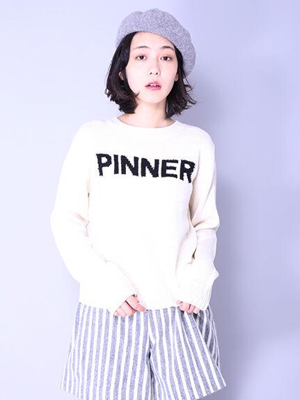・PINNERロゴニットプルオーバー
