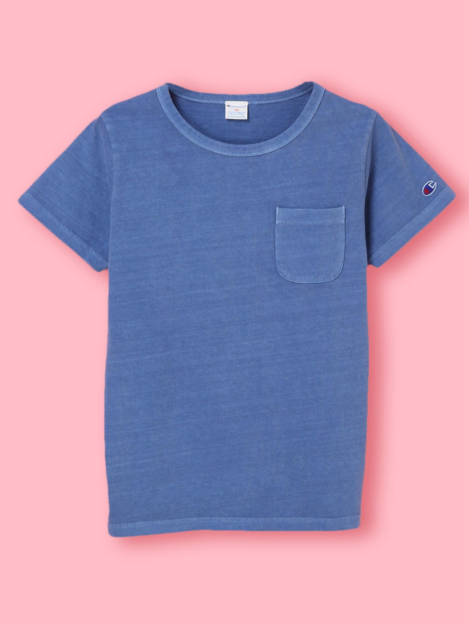 FChampion製品染めポケットTシャツ