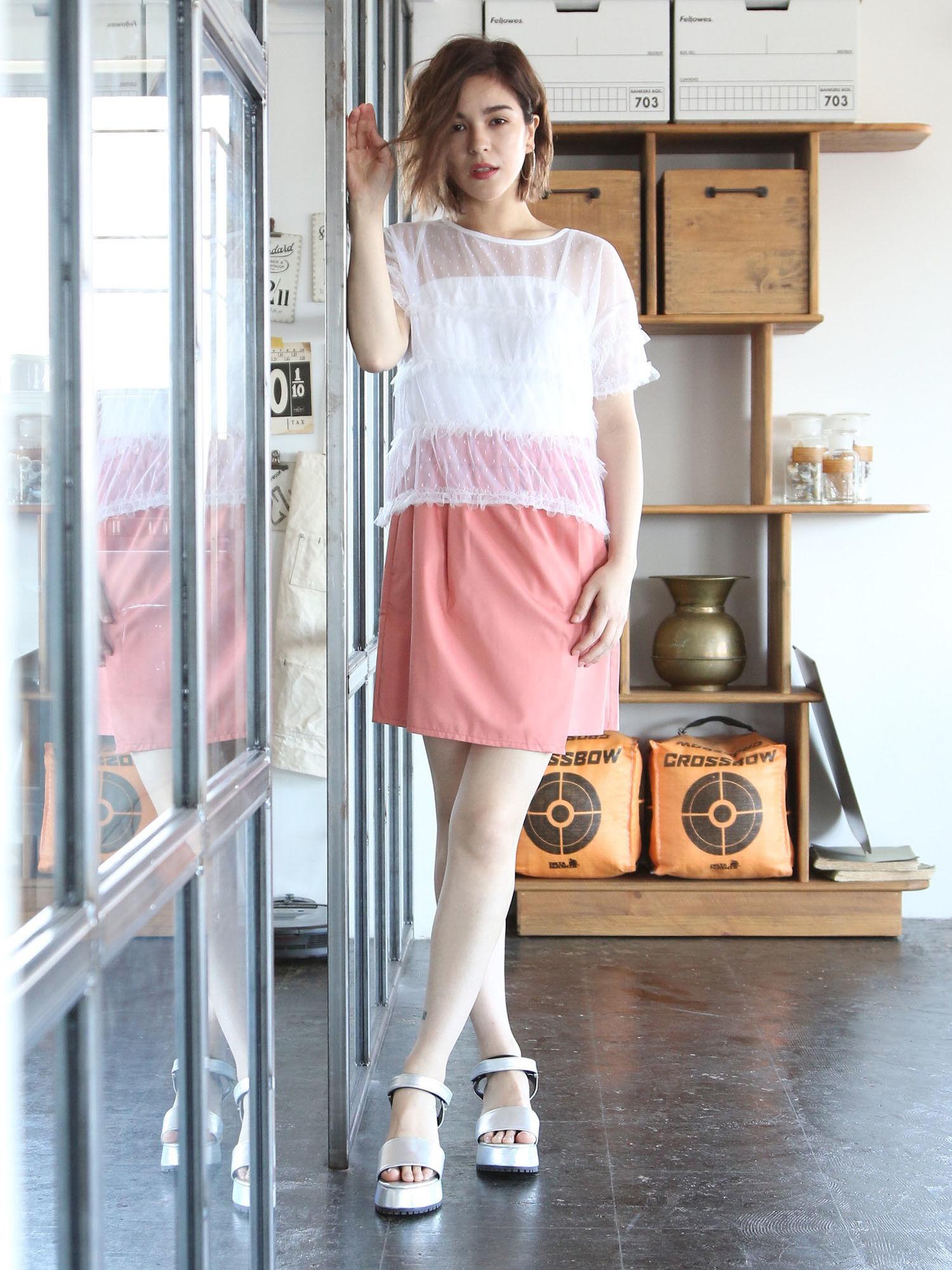 ・アシンメトリー台形スカート