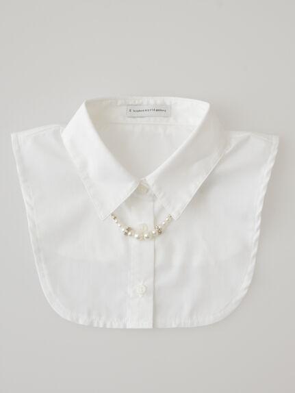 パールリングネックレス付きシャツ衿AC