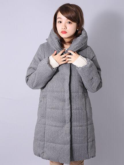 ヘチマ衿中綿ロングコート