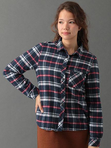 ・ネルチェックシャツ