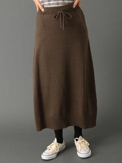 ポケット付マキシスカート