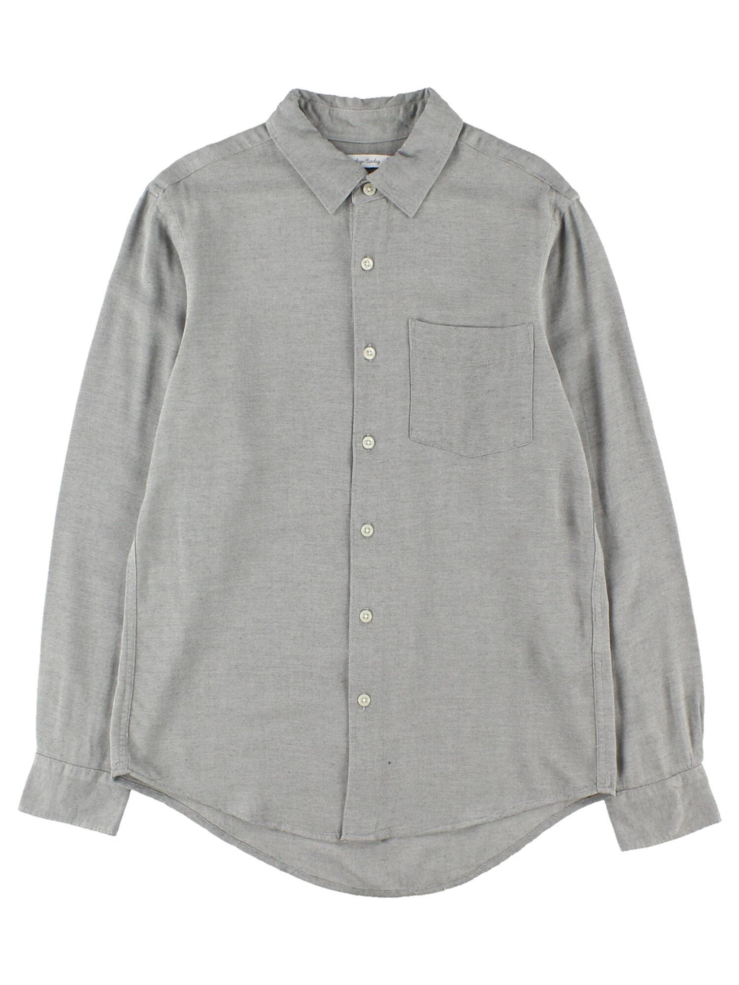 Men'sTRピーチ長袖フレンチフロントシャツ