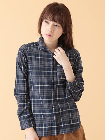 ・Aネルチェックシャツ