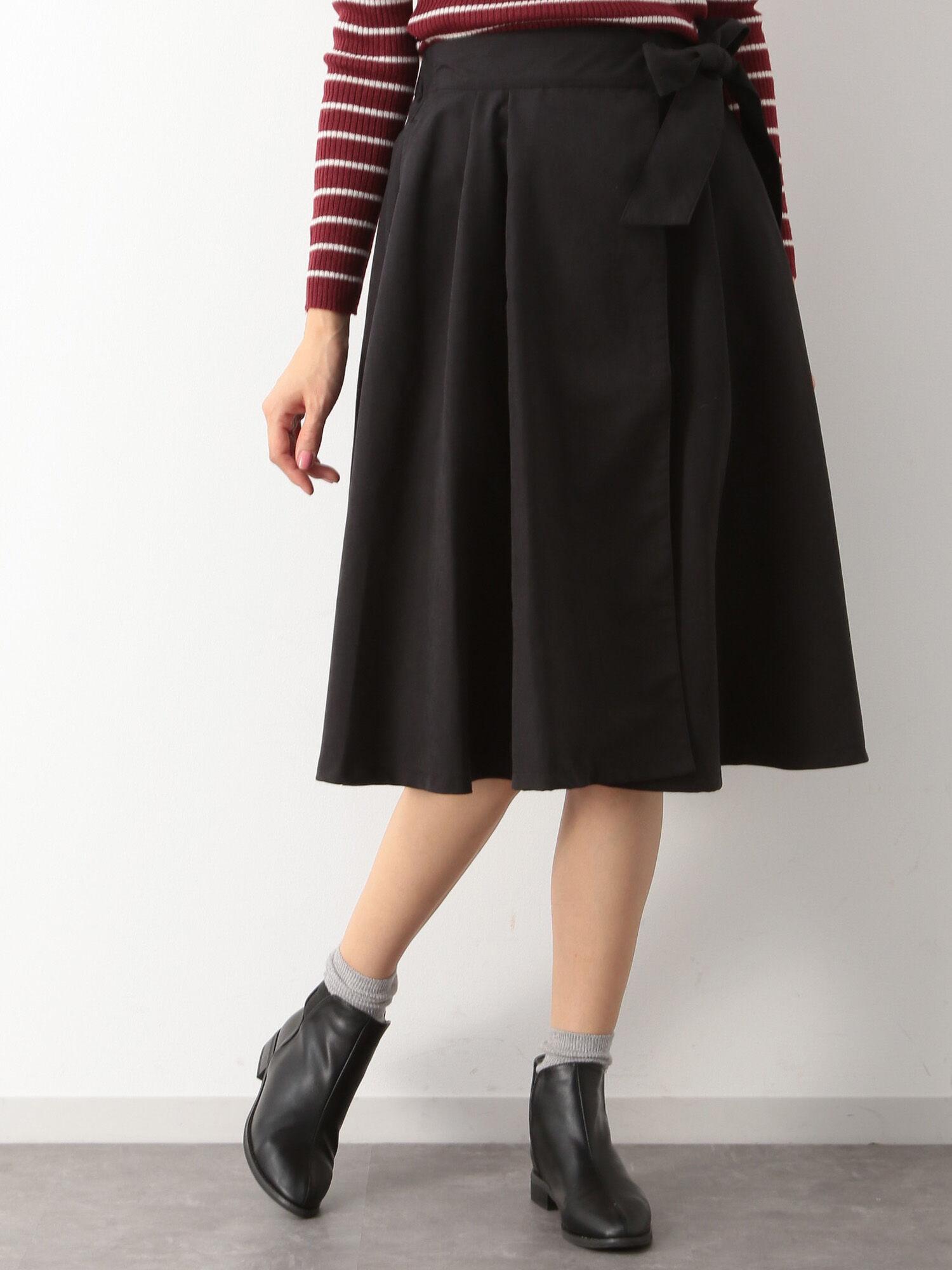 WINHEART・ピーチフレア巻きスカート