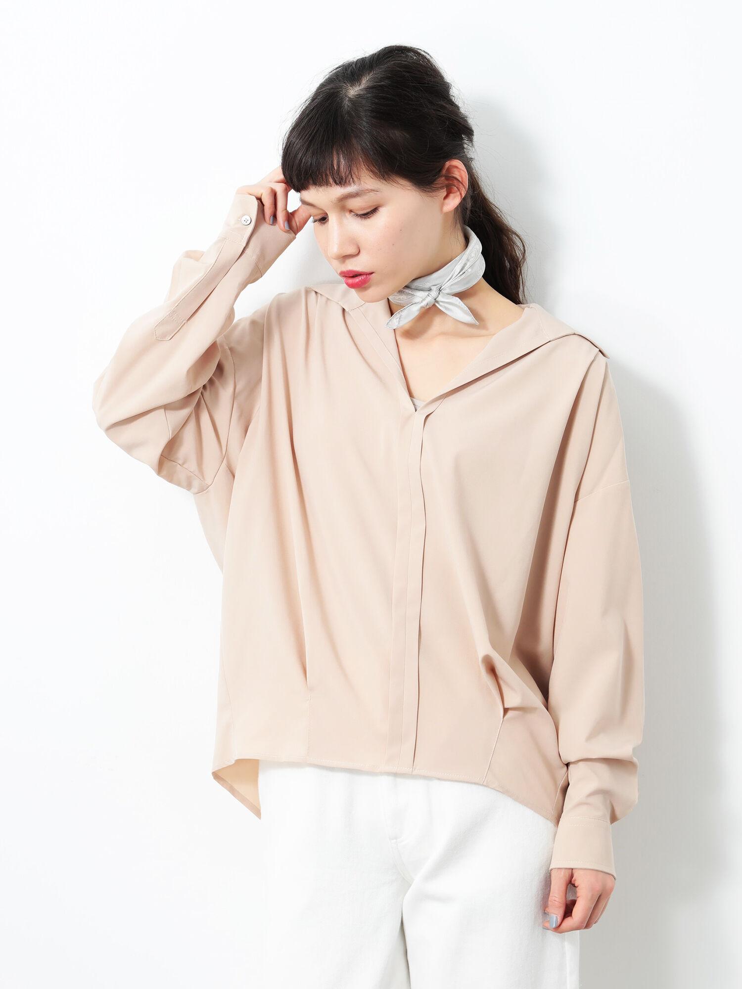 立体スキッパーシャツ