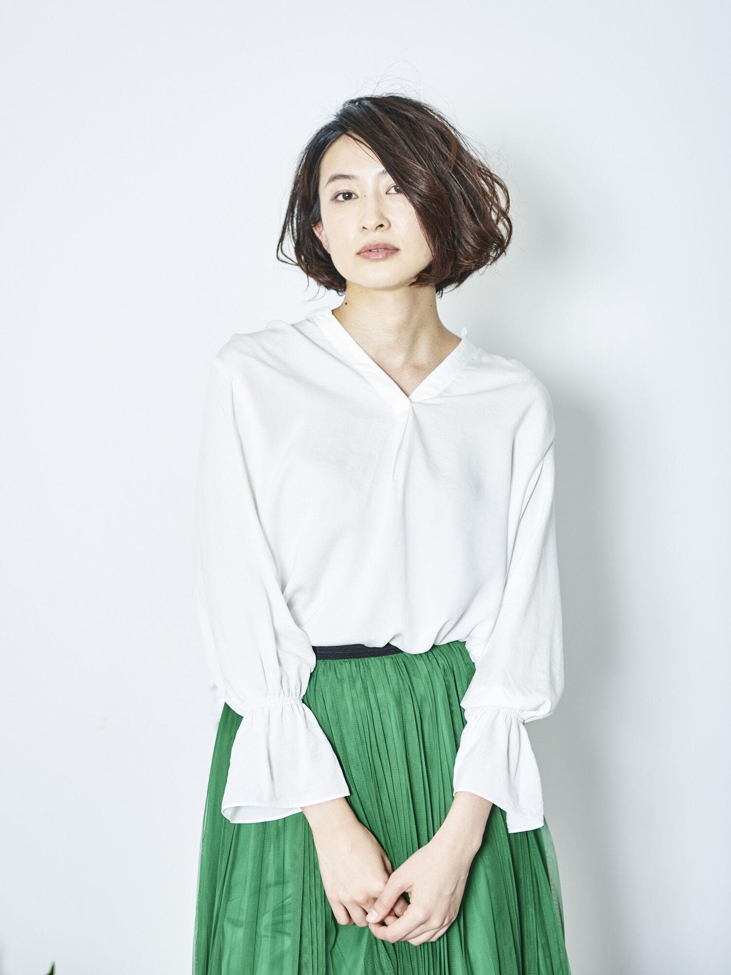 ・袖フレアスキッパーシャツ