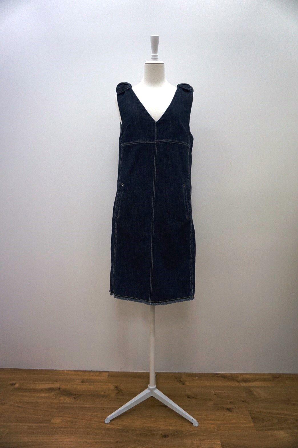 【PRE-ORDER】A.62690肩リボンデニムワンピース