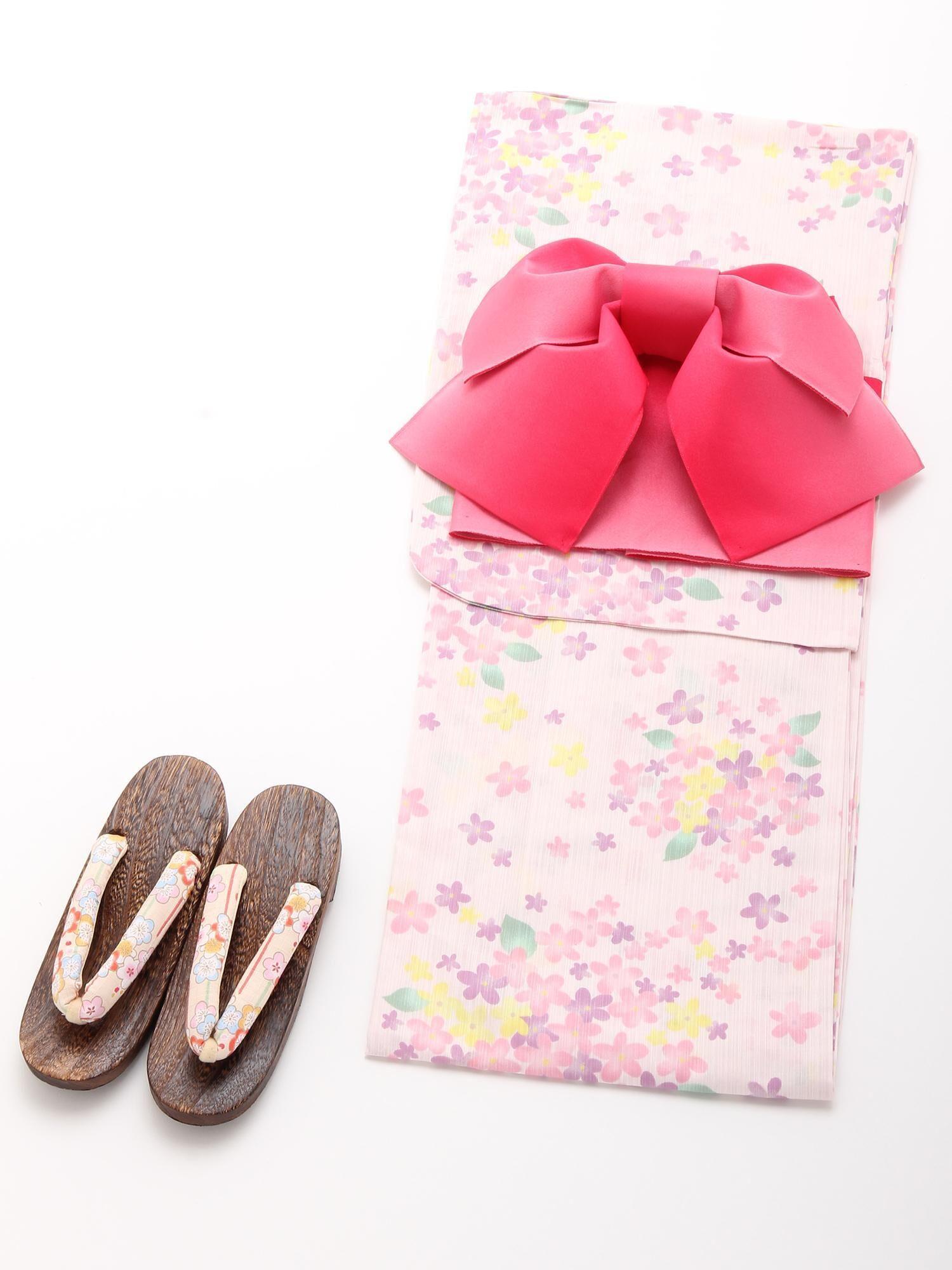 カラフル紫陽花柄浴衣