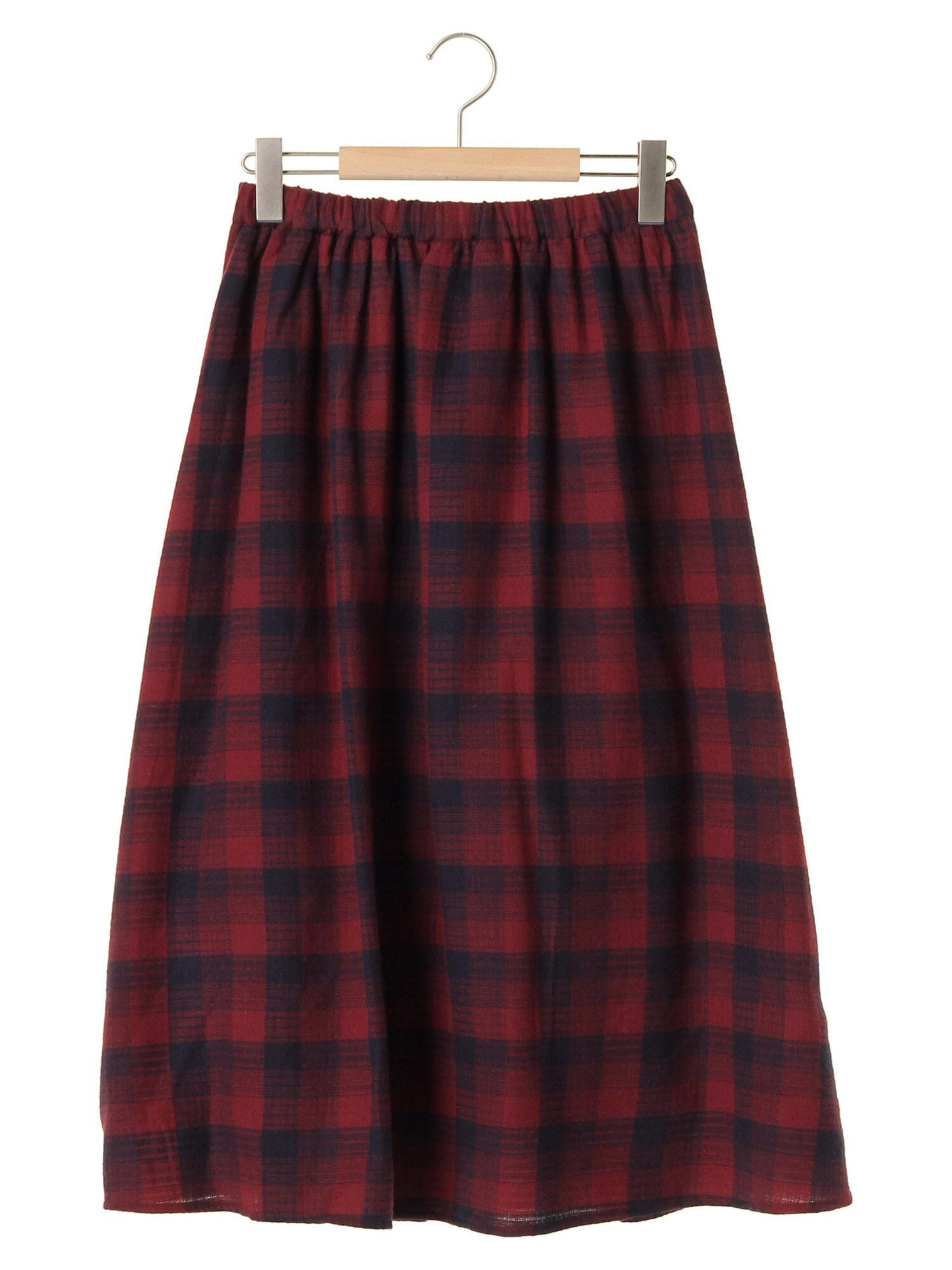 ドビーチェックギャザースカート