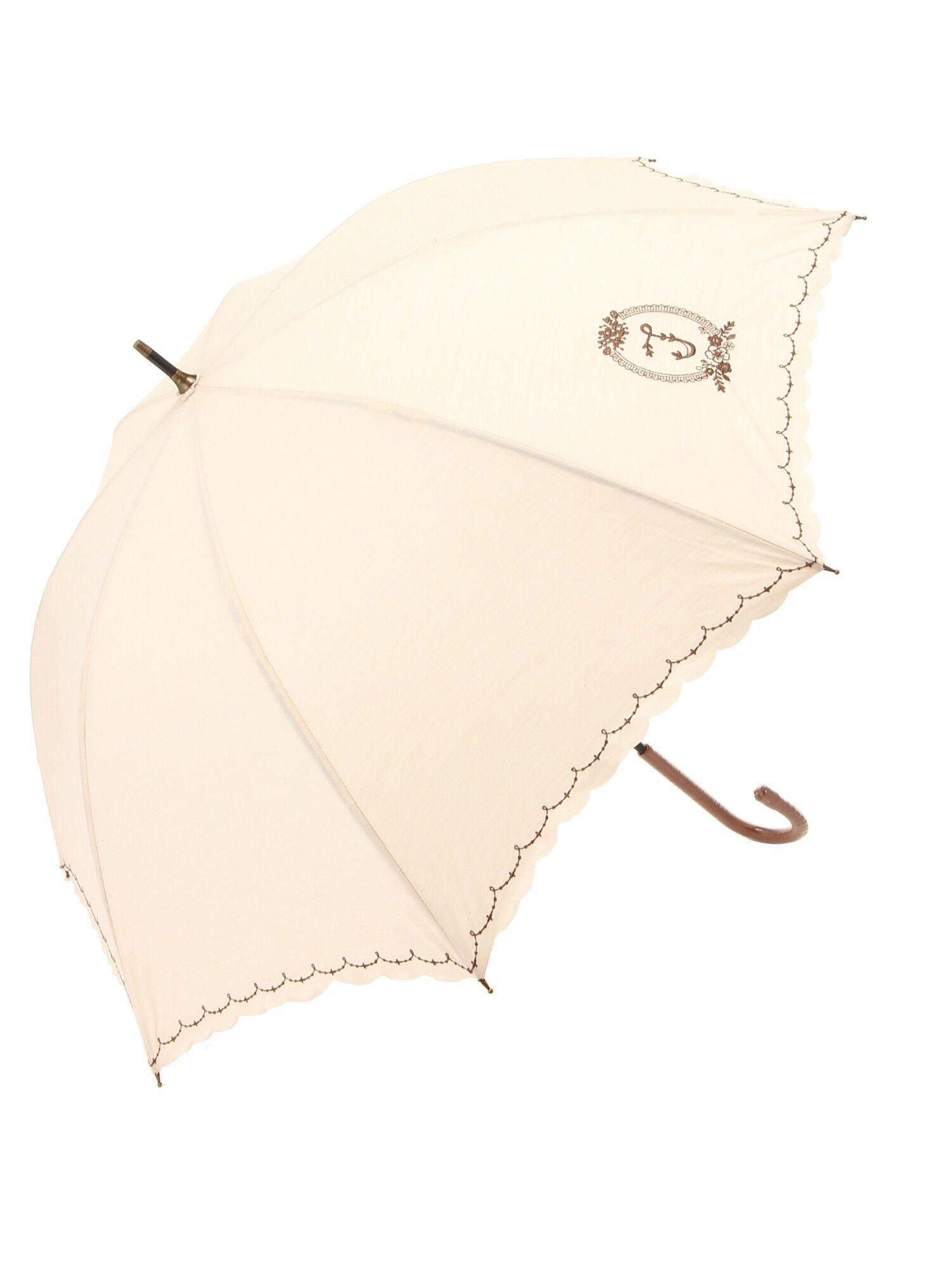 S字刺繍スカラップ日傘