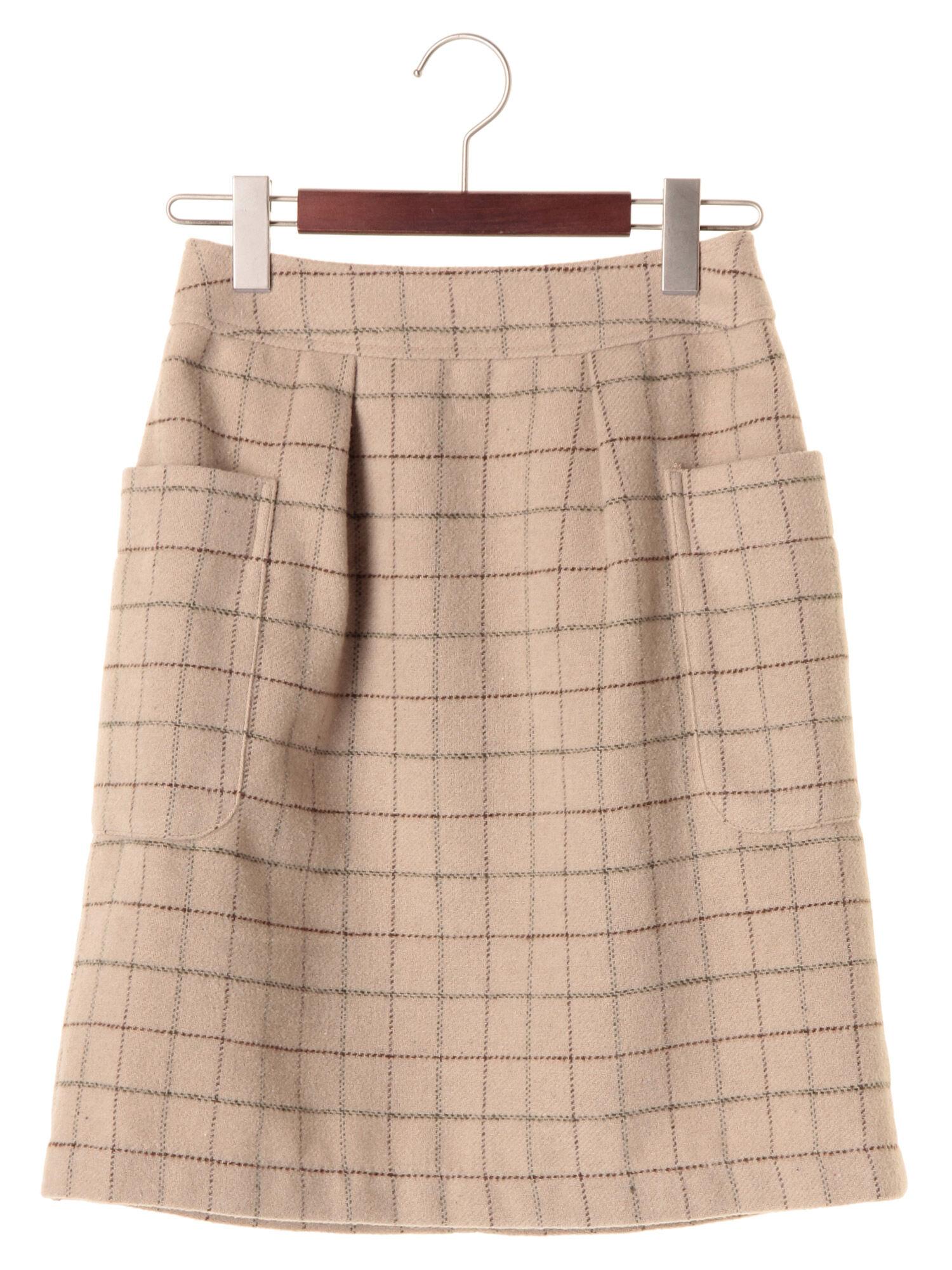 チェックアウトポケットタイトスカート