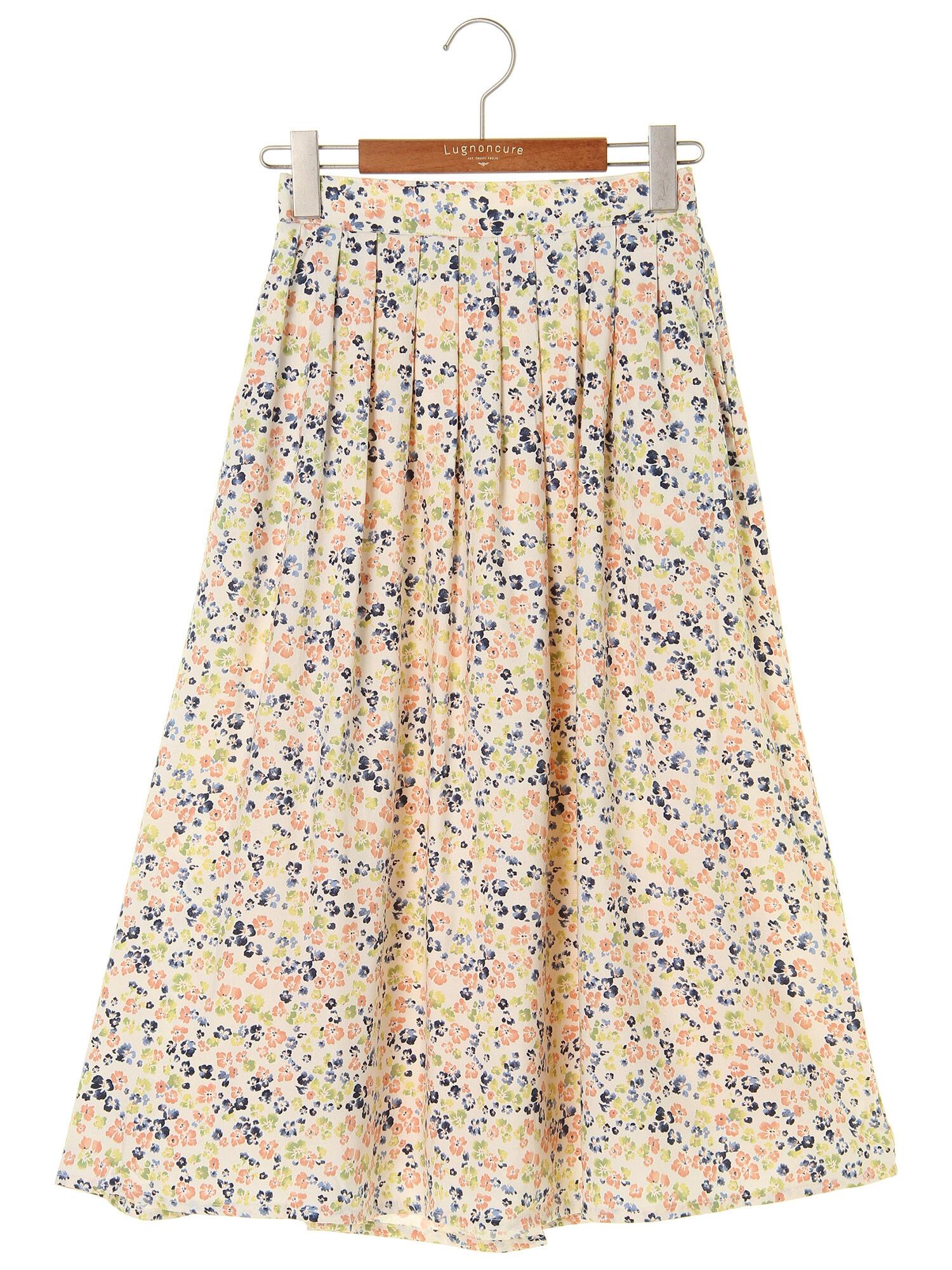 C/R小花総柄ギャザースカート