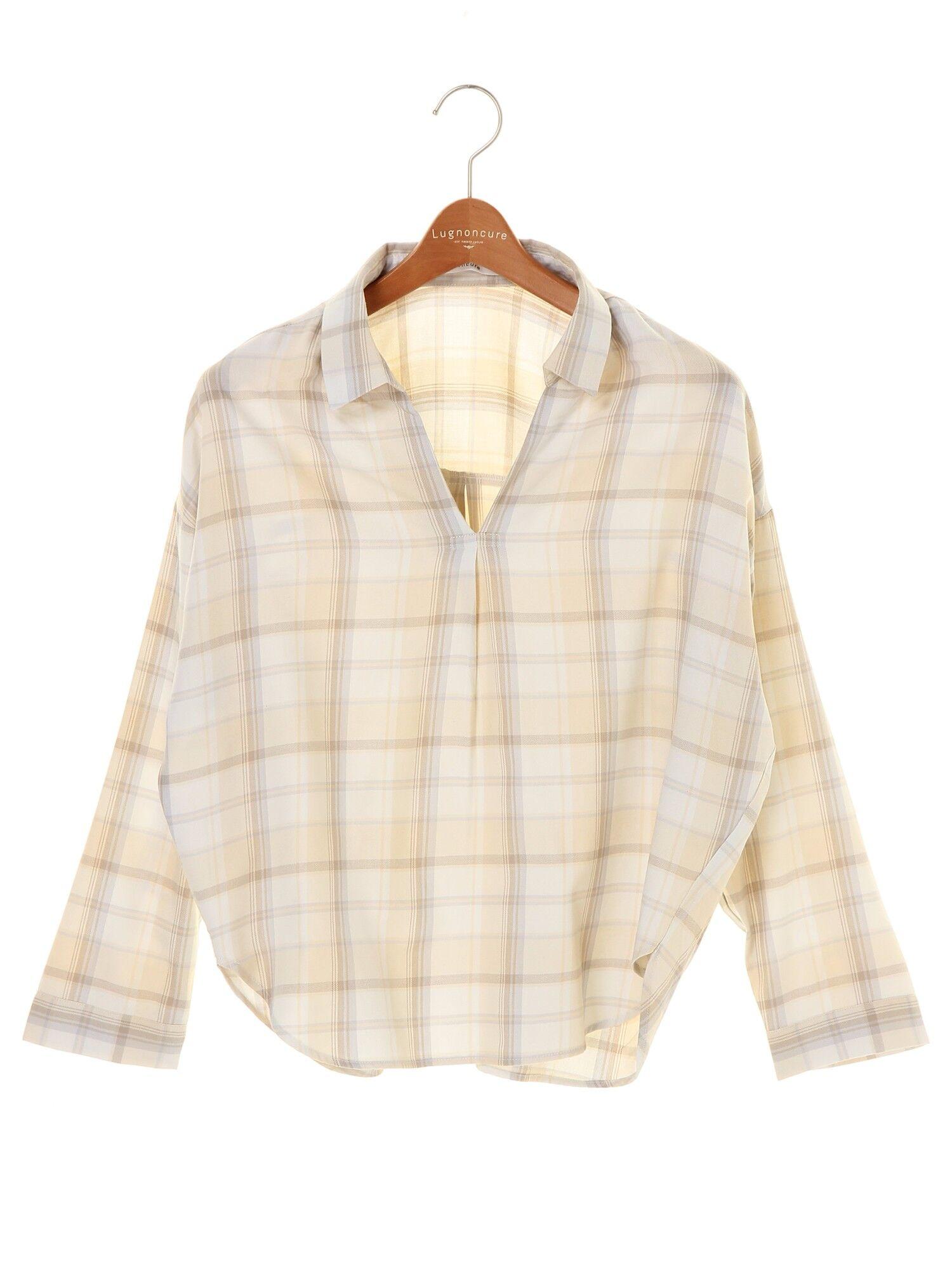 スキッパーチェックシャツ