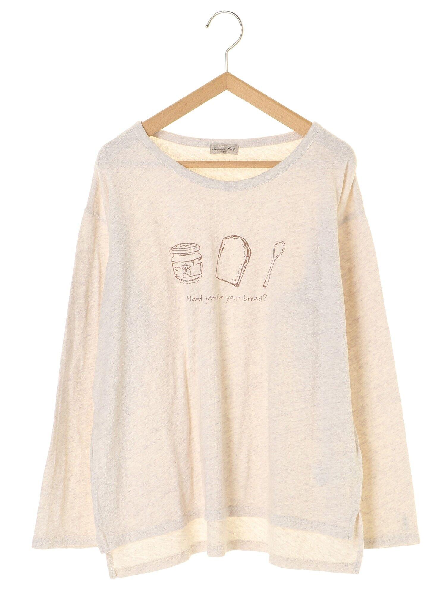 粗挽き杢ジャムプリントTシャツ