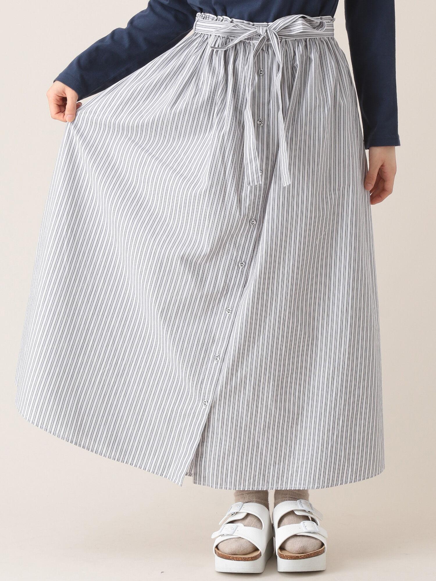 ギャザーロングスカート/柄アソート
