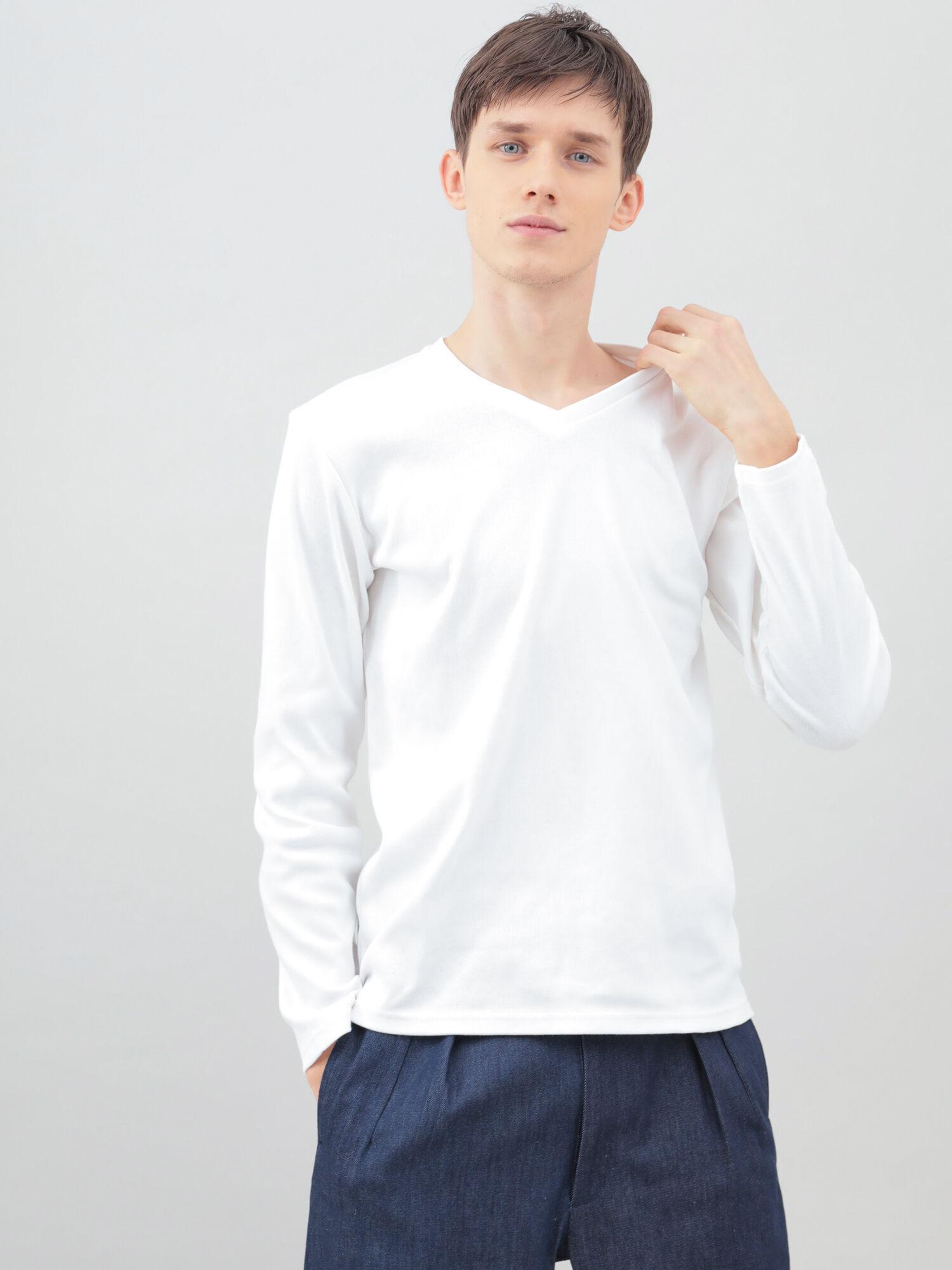VネックロングTシャツ