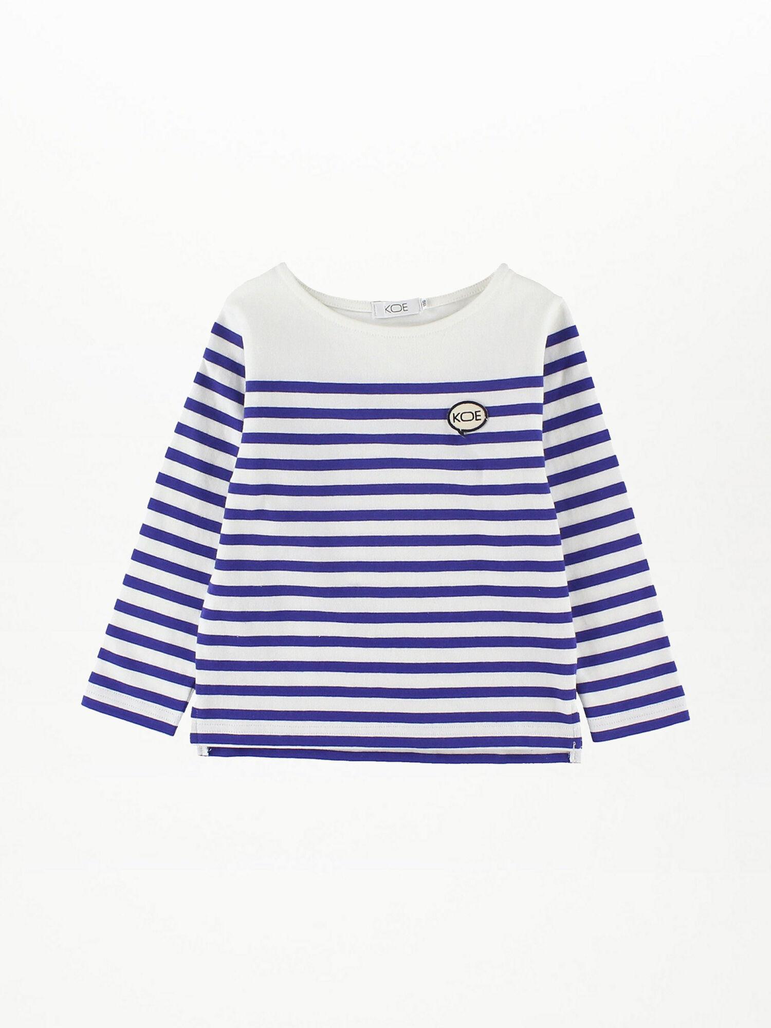 ボートネックパネルボーダーTシャツ