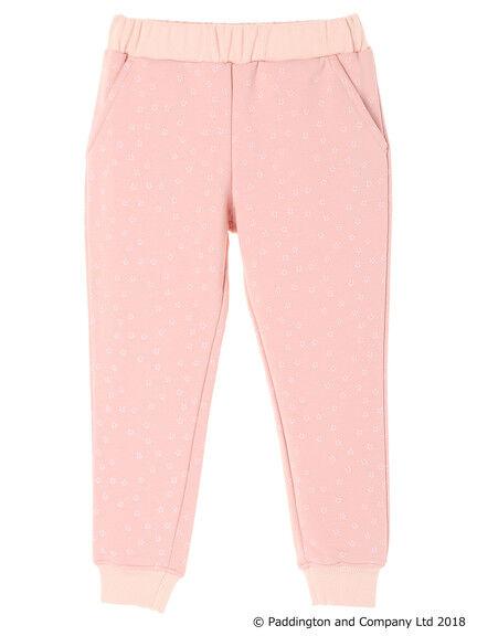 粉色印花内搭长裤