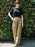 E hyphen world gallery(イーハイフンワールドギャラリー) |UNIVERSAL OVERALL WIDE PANTS(ベージュ)